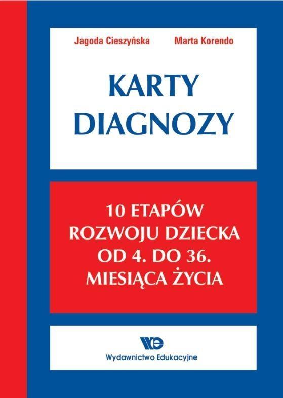 Karty Diagnozy 10 etapów rozwoju dziecka od 4 do 36 miesiąca życia Cieszyńska Jagoda, Korendo Marta