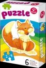 Pierwsze Puzzle 6 zwierzątek (0321)