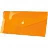 Teczka/koperta plastikowa na guzik Tetis DL - pomarańczowa (BT612-P)