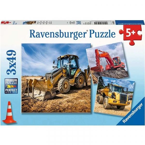 Puzzle 3x49: Maszyny budowlane (050321)
