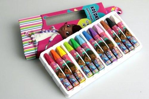 Kredki pastelowe 12 kolorów Klinika dla Pluszaków