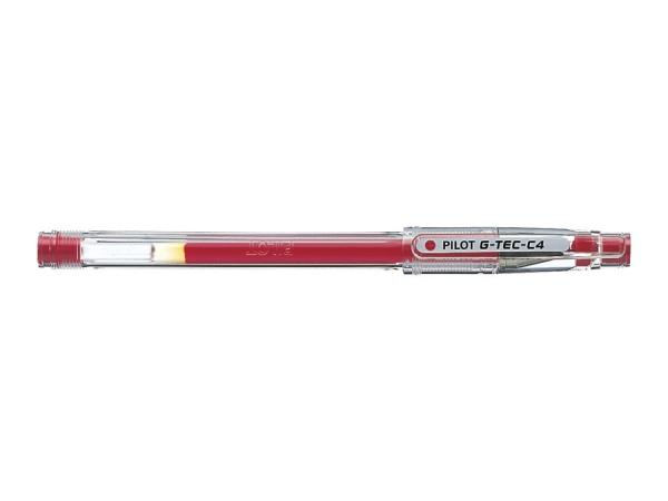 Cienkopis żelowy Pilot G-Tec-C4 Hi-Tecpoint - czerwony (BL-GC4-R)