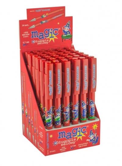 Długopis Magic Żelowy niebieski (36szt) KAMABEN