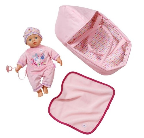 Lalka z nosidełkiem my little Baby born SuperSoft 32 cm (820322)