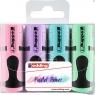 Zakreślacze Edding Mini pastelowe, 4 kolory (7/4S/099)