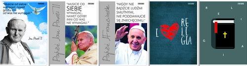 Zeszyt A5 Religia w kratkę 60 kartek 10 sztuk mix