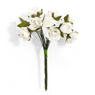 Ozdoba papierowa Galeria Papieru kwiaty róże kremowe (252003)