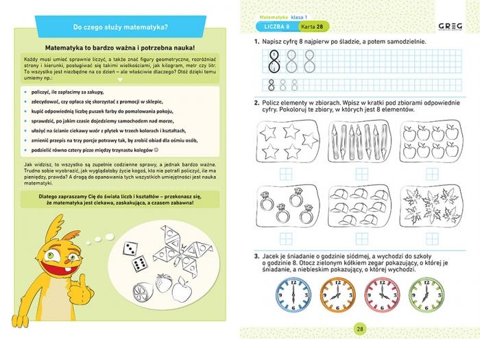Matematyka. Karty pracy w szkole i w domu - klasa 1 Marta Kurdziel