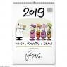 Kalendarz 2019 Wino kobiety i śpiew