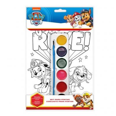 Kolorowanka z farbami. Psi Patrol