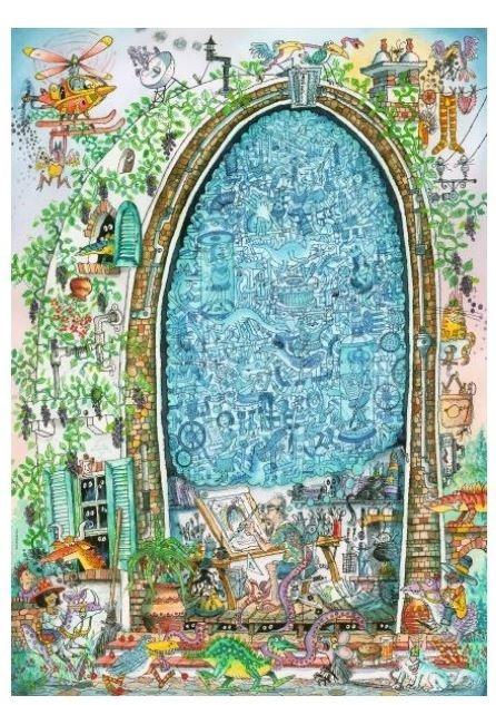 Puzzle 1000 elementów Szalony umysł artysty, Paul Korky (Puzzle+plakat) (29932)