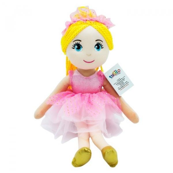 Lalka Daria różowa sukienka 40 cm (5078a)