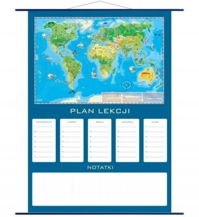 Plan lekcji - mapa Świat Młodego Odkrywcy