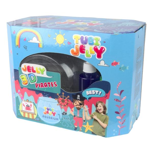 Zestaw Tubi Jelly 8 kolorów + duże akwarium - Piraci (TU3332)