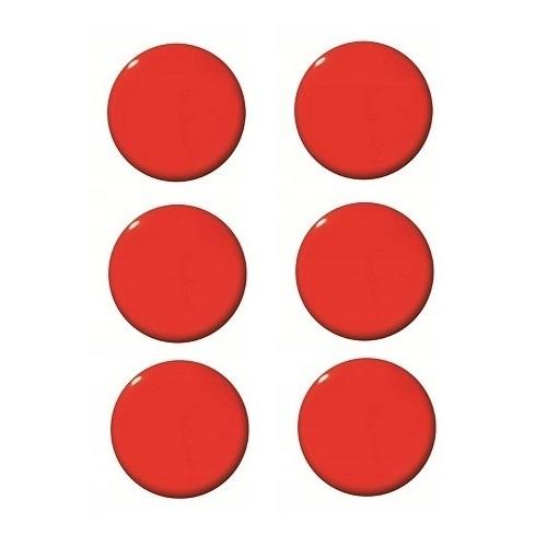 Magnesy do tablic czerwone 20mm/6szt. - gładkie  (GM400-C6)