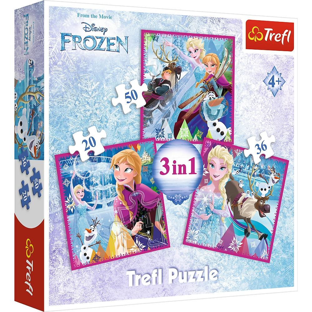 Puzzle 3w1: Kraina Lodu - Zimowa magia (34832)
