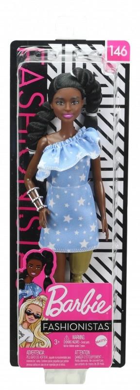 Lalka Barbie Fashionista błękitna sukienka (FBR37/GHW60)