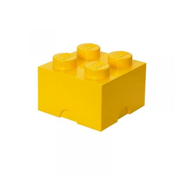 Pojemnik klocek LEGO Brick 4 - Żółty (40031732)