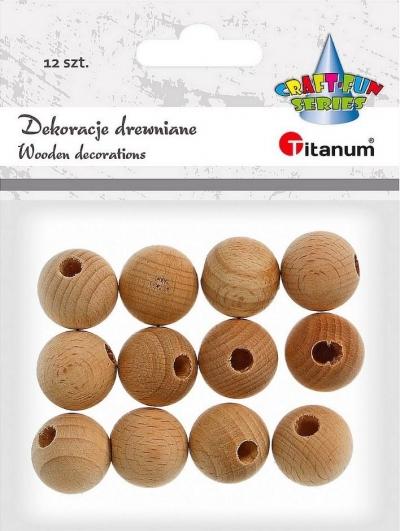 Koraliki drewniane 12szt