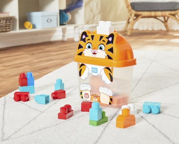 Mega Bloks: Pojemnik z klockami - tygrys