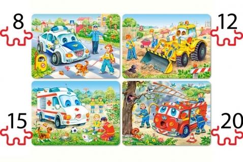 Puzzle 4 w 1: Zabawne pojazdy (B-04324)