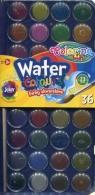 Farba akwarelowa mała pastylka 36 kolorów