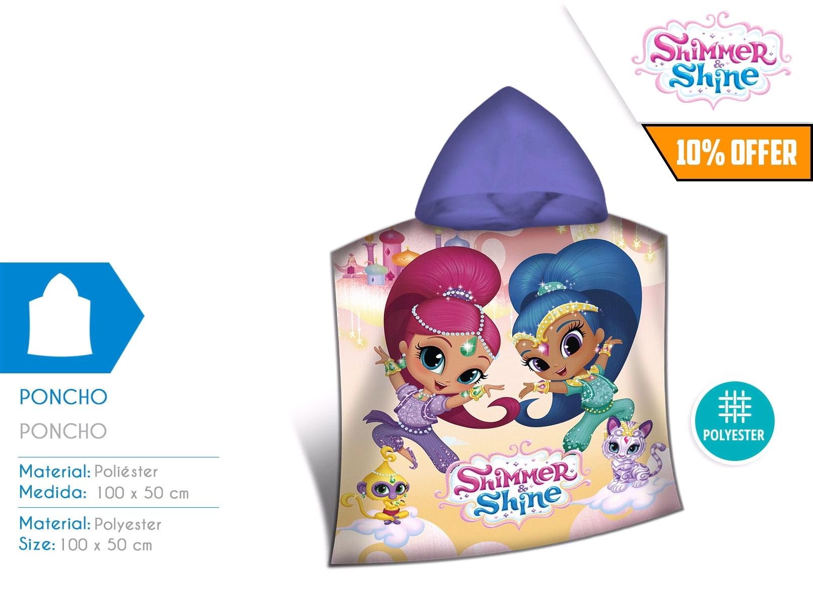 Shimmer & Shine, poncho kąpielowe, 100x50 cm (SH17089M)
