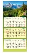 Kalendarz 2019 Trójdzielny Pejzaż-Góry DAN-MARK