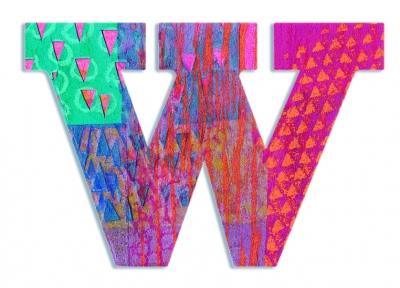 W - literka Paw do przyklejenia (DD04832)