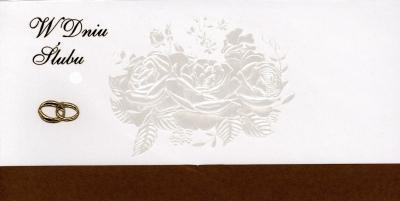 Karnet DL duży Ślub 9033/9032 MIX .