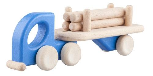Mała Lorry Logs Niebieska