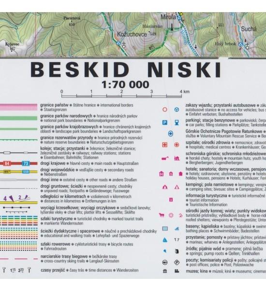 Beskid Niski, 1:70 000 - mapa turystyczna praca zbiorowa