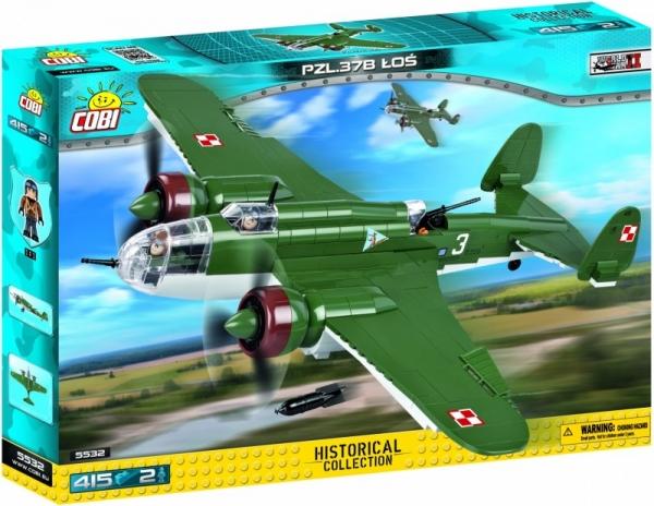 Cobi: Mała Armia WWII. PZL P-37B Łoś (5532)