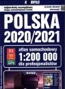 Polska 2020/2021 Atlas samochodowy dla profesjonalistów 1: 200 000