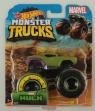 Hot Wheels Monster Trucks: Pojazd 1:64 - Marvel Hulk (FYJ44/GJF43) Wiek: