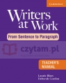 Writers at Work: From Sentence to Paragraph TM