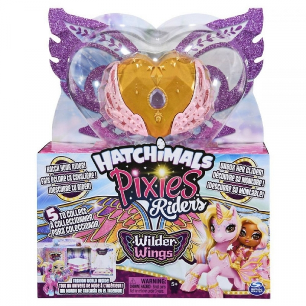 Figurka Hatchimals Pixies Riders Wilder Wings Jednorożec (6059691/20128606)