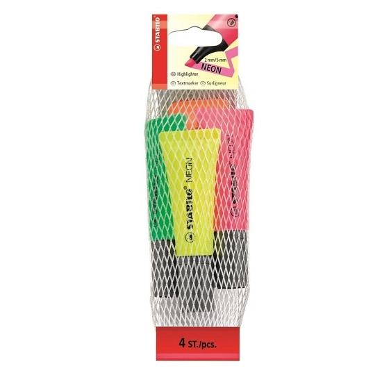 Zakreślacze Stabilo Neon, 4 kolory