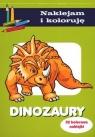 Dinozaury. Naklejam i koloruję