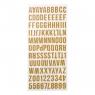 Litery samoprzylepne duże złote