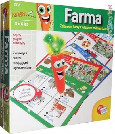 Karotka Farma Zabawna Farma z interaktywną Marchewką .