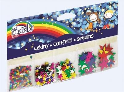 Confetti cekiny gwiazdy mix