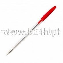 Długopis z wymiennym wkładem Titanum czerwony .