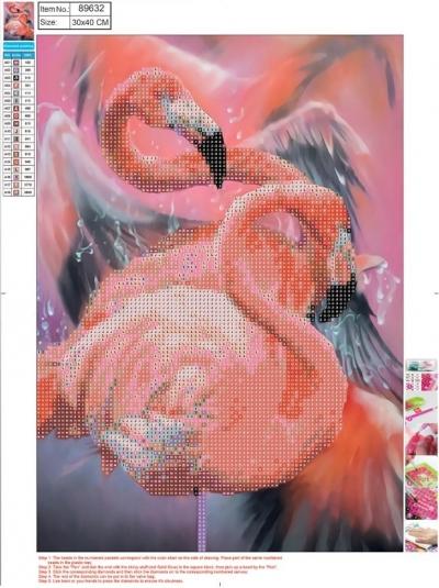 Mozaika diamentowa 5D 30x40cm Flamingo 89632