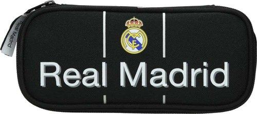 Piórnik owalny kompaktowy Real Madrid 3 black