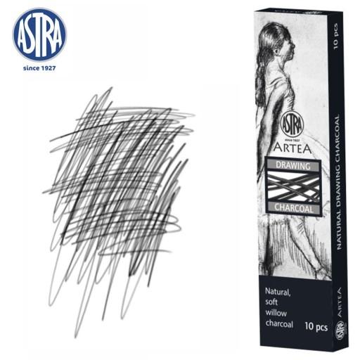 Węgiel naturalny rysunkowy Astra Artea 3-6mm, 10 sztuk (323115004)