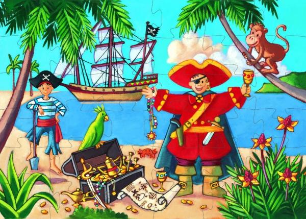 Puzzle postaciowe 36: Pirat (DJ07220)