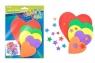 Ozdoba dekoracyjna piankowa serce 5 kompletów