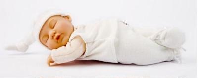 Lalka Anne Geddes  Śpiący Bobas biała (AN579132)