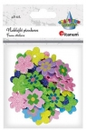 Naklejki piankowe kwiatki 27/28/30mm mix 48szt